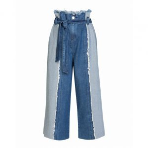 Calça Jeans Wide Clochard