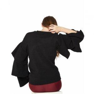 Suéter Mangas Com Babado