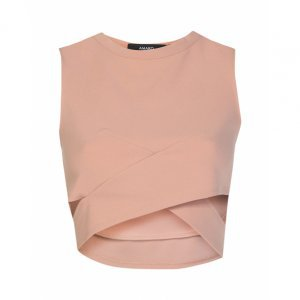 Blusa Cropped Recorte Lateral