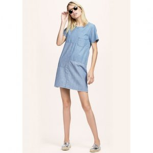 Hering Jeans Dress In Cotton And Liocel