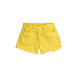 Shorts Feminino Com Barra Desfiada E Cintura Intermediaria