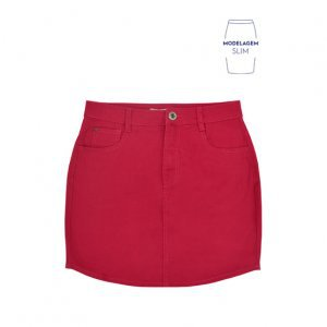 Basic Skirt In Cotton Twill And Slim Modeling