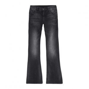 Calça Jeans Feminina Flare Em Algodão Com Lavação Clara