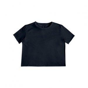 T-Shirt Cropped Em Malha Flamê
