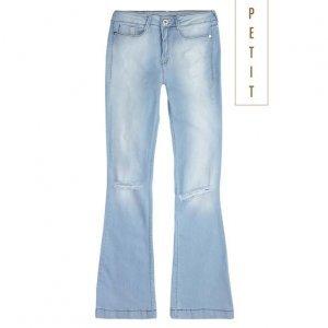 Calça Jeans Na Base Petit Com Recorte Nos Joelhos