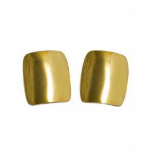 Brinco Retangulo Dourado Tamanho:  U - Cor:  Dourado