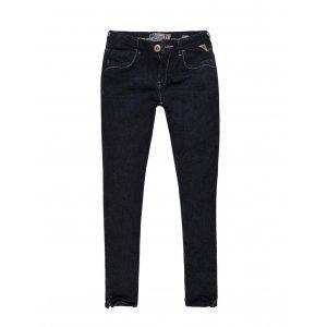 Calça Jeans Feminina Skinny Zíper Barra