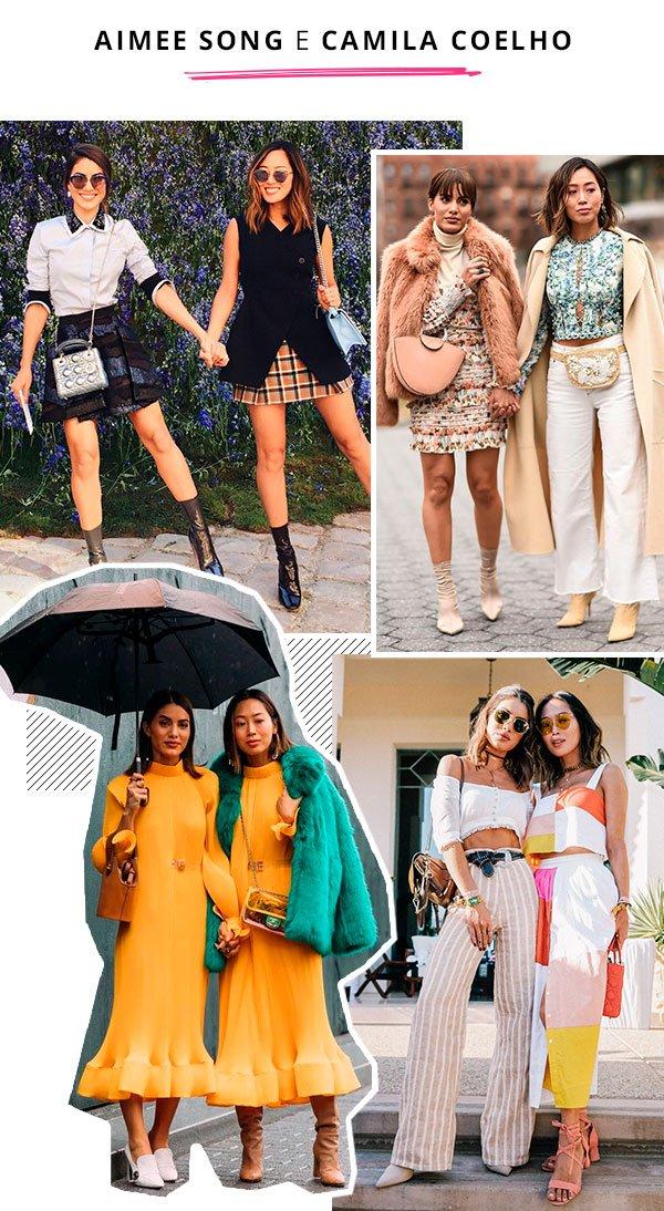 Camila Coelho e Aimee Song - bffs looks - amigas - verão - street style