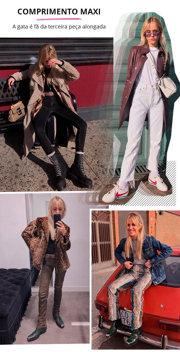 Monica Noz - comprimento maxi - terceira peça - verão e inverno - street style
