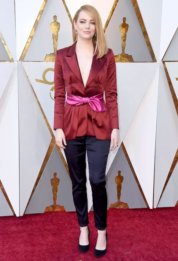 Emma Stone Veste Louis Vuitton