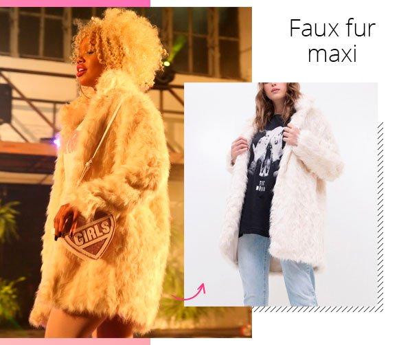 modelo - faux fur - pelos - inverno - passarela