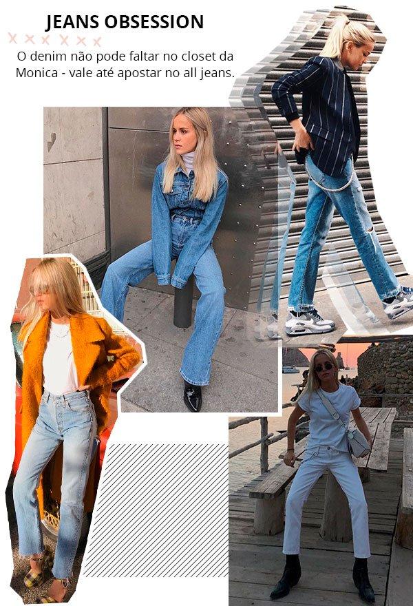 Monica Noz - jeans - all jeans - verão - street style