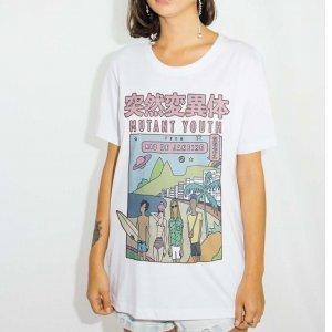Camiseta Mutant Tamanho: G - Cor: Branco