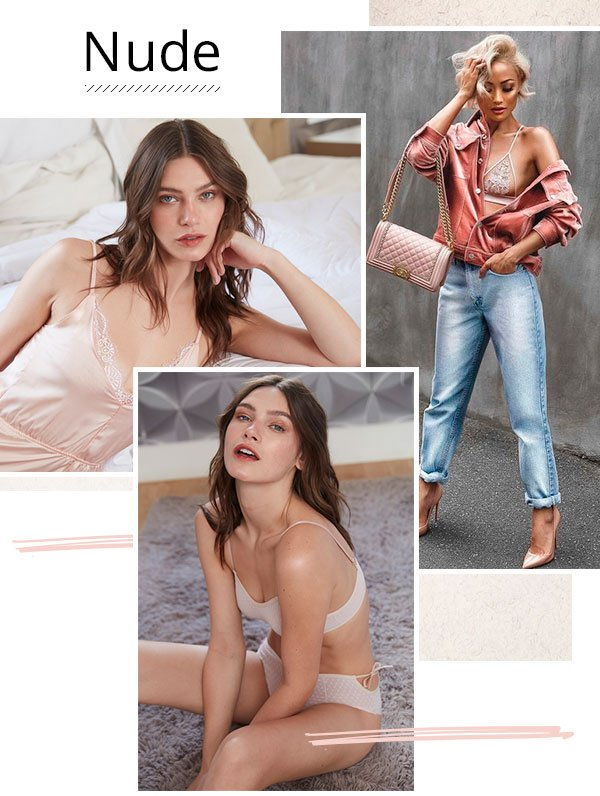 Chic & Effortless: Cinco Cores De Lingerie Que Te Deixam Elegante No Ato
