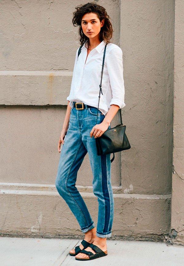 it girl - calça jeans listra lateral - calça jeans listra lateral - verão - street style
