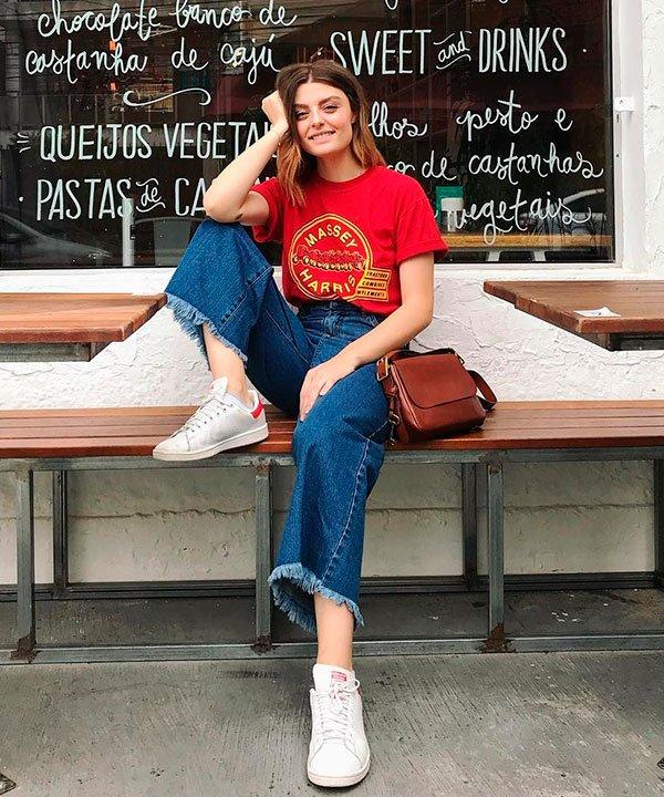 Mariana Andrade - pantacourt - culotte - verão - street style