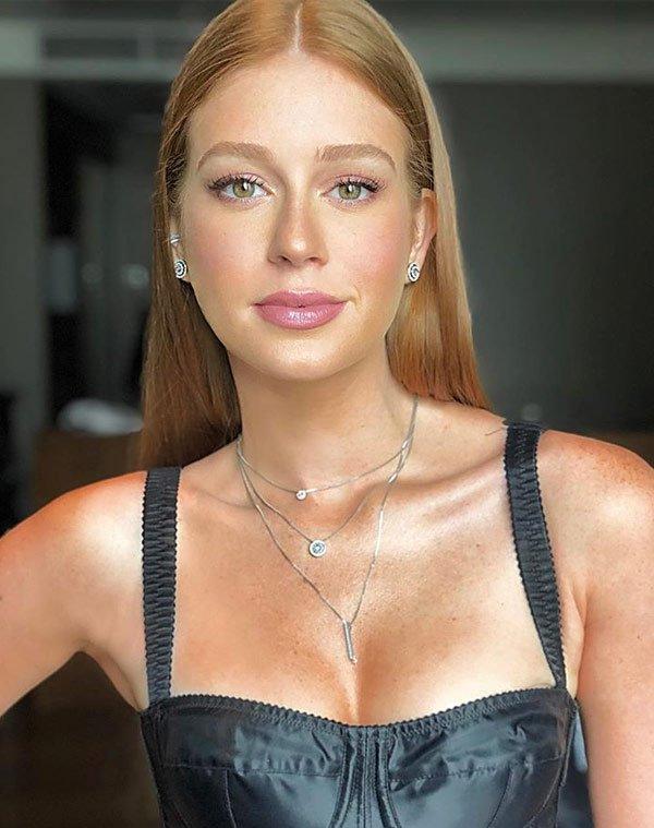 Marina Ruy Barbosa - top - maquiagem natural  - verão - casa