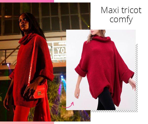 modelo - maxi tricot - tricot - inverno - passarela