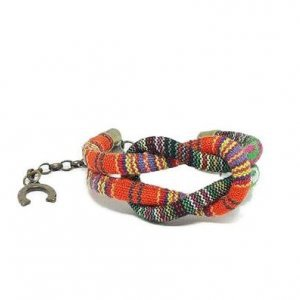 Bracelete Ethnic Knot Multi Org Tamanho: U - Cor: Laranja E Verde