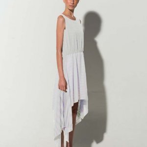 Vestido Plissado Malha White Tamanho: P - Cor: Branco