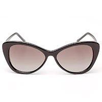 Óculos Feminino Gatinho Oversized Acetato Preto