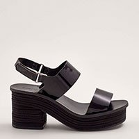 Sandália Velcro Corda Preto Tamanho:  37 - Cor:  Preto
