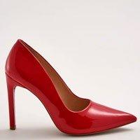 Scarpin Alto Verniz Vermelho Tamanho: 36 - Cor: Vermelho
