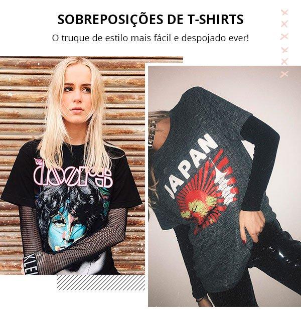 Monica Noz - sobreposicao - 2 t-shirts - verão - street style