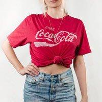 T-Shirt Vintage Coca Tamanho: M - Cor: Vermelho
