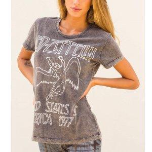 T-Shirt Led Zeppelin Tamanho: G - Cor: Cinza
