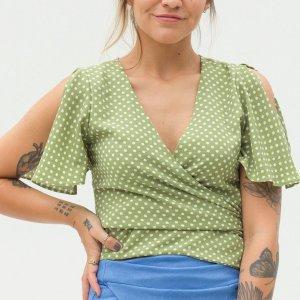 Blusa Crush Poá Verde Tamanho: P - Cor: Verde