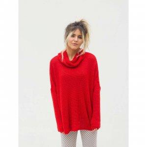 Maxi Pullover Gola Red Tamanho: M - Cor: Vermelho