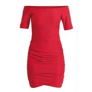 Vestido Quintess Vermelho Decote Ombro A Ombro