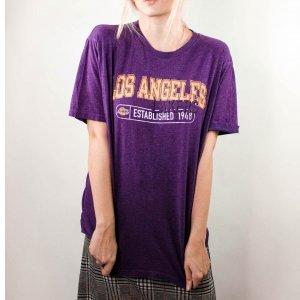 T-Shirt Vintage Lakers  Tamanho: G - Cor: Roxo