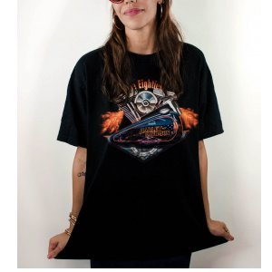 T-Shirt Vintage The Eighties Tamanho: Xl - Cor: Preto