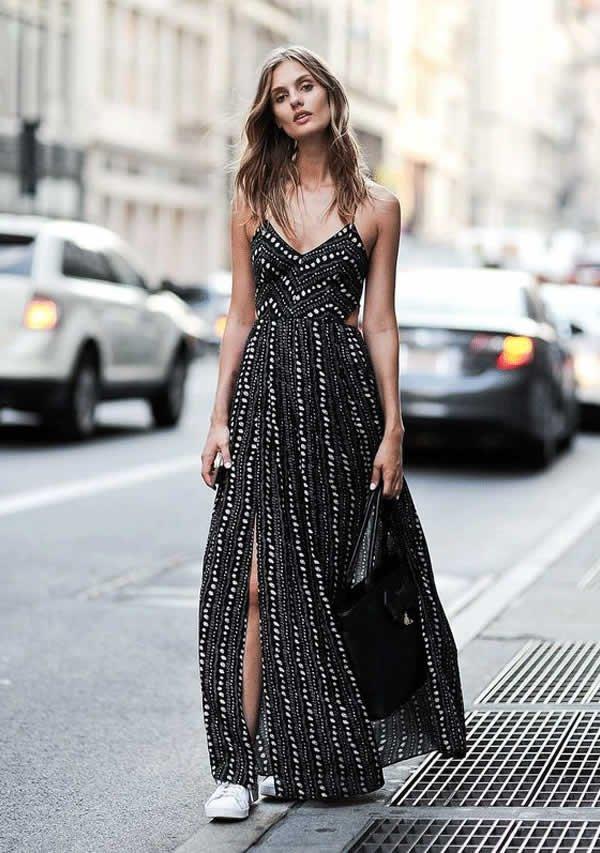 it girl - vestido-preto-tenis-branco - vestido  - meia estação - street style