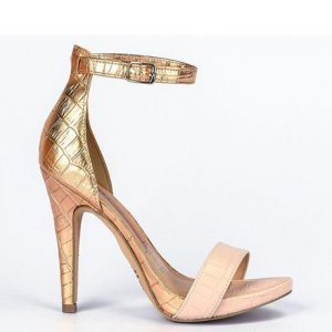Sandália Tanara Salto Fino Dourada