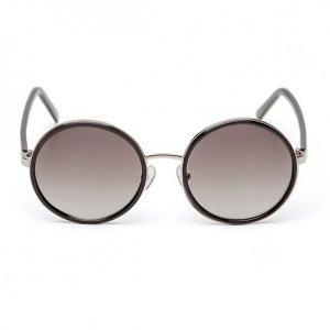 Óculos Feminino Redondo Com Acetato Preto