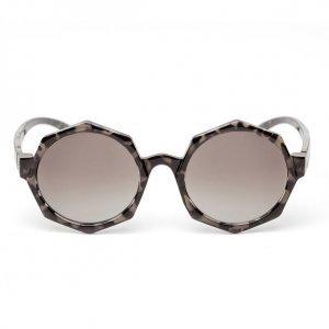 Óculos Feminino Redondo Sextavado Preto