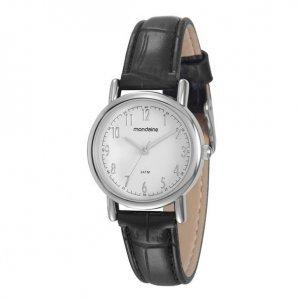 Relógio Feminino Clássico Preto E Prata