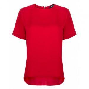 Camiseta De Crepe Com Estampa