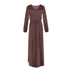 Vestido Longo Estampado Em Tecido De Viscose
