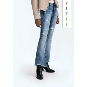 Calça Jeans Flare Petit Na Base Veneza Com Barra Desfiada
