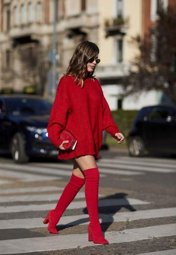 Aida Domenech - sueter-vermelho-oversized-otk-boots - otk boots - meia estação - street style