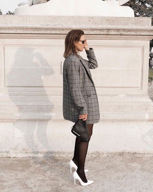 Amanda Shadforth - blazer-xadrez-meia-calça - blazer xadrez - meia estação - street style