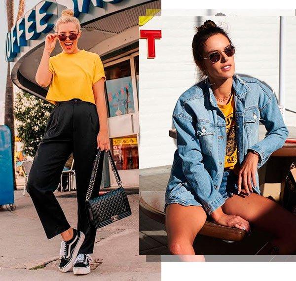 alessandra ambrosio - amarelo - looks - verão - street style
