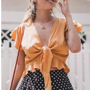 Blusa Bardot Mostarda Tamanho: G - Cor: Amarelo