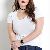 Blusa Branca Plus Size