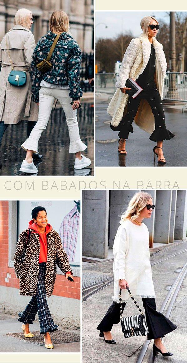calça - babados - it girls - looks - calça