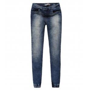 Calça Jeans Feminina Malha Elástico Cintura